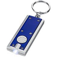 LED-Schlüsselanhänger, blau/silber