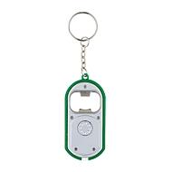 LED-Schlüsselanhänger, Silberfarben/Grün, Standard