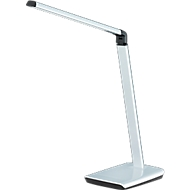 Ledbureaulamp Bragi, 818 lumen, 6-voudig dimbaar, met USB-aansluiting, zilver