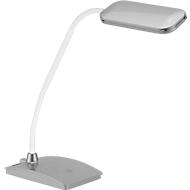 Ledbureaulamp Fischer, zilverkleuren