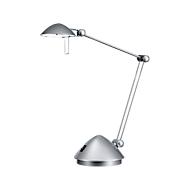 Ledbureaulamp Madrid, 180 lumen, 3 scharnieren, levensduur 20.000 uur, zilverkleuren