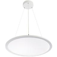 Ledhanglamp FRISCH-Licht, 60 W, 6700 lm, lichtkleur neutraal wit, PMMA/aluminium, Ø 600 x h 14 mm