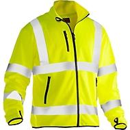 Leichte Softshell Jacke Jobman 5101 PRACTICAL, Hi-Vis, EN ISO 20471 Klasse 3, , gelb, Polyester, XS