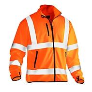 Leichte Softshell Jacke Jobman 5101 PRACTICAL, Hi-Vis, EN ISO 20471 Klasse 3, , orange, Polyester, M