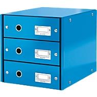LEITZ® 3 schuifladen Click + Store, hoog, blauw
