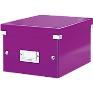 LEITZ® Ablage- und Transportbox Serie Click + Store, klein, für DIN A5, violett