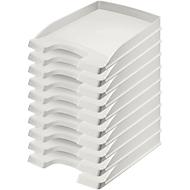 LEITZ® Ablagekorb Plus 5237, DIN A4, 10 Stück, grau