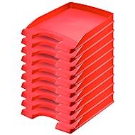LEITZ® Ablagekorb Plus 5237, DIN A4, 10 Stück, rot