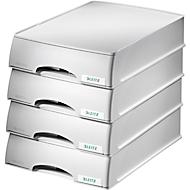 LEITZ® Ablagekorb Plus, DIN A4, Kunststoff, 4 Stück, grau
