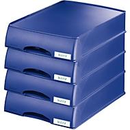 LEITZ® Ablagekorb Plus, DIN A4, Polystyrol, 4 Stück, blau