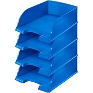 LEITZ® Ablagekorb Plus Jumbo 5233, DIN A4, 4 Stück, blau