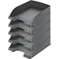 LEITZ® Ablagekorb Standard 5226, Kunststoff, 5 Stück, schwarz