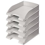 LEITZ® Ablagekorb Standard 5227, Kunststoff, 5 Stück, grau