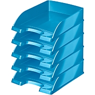 LEITZ® Ablagekorb Wow 5226, DIN A4, 5 Stück, metallic-blau