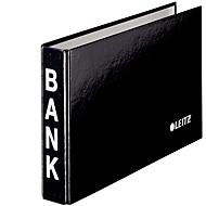 LEITZ® Bank-Ordner, A6 quer, Material: Karton PP-kaschiert, schwarz