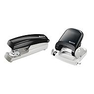 LEITZ® Bürolocher 5005 + Heftgerät 5500 SET, schwarz