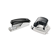 LEITZ® Bürolocher 5038 + Heftgerät 5501 SET, schwarz