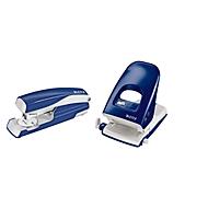 LEITZ® Bürolocher 5138 + Heftgerät 5522 SET, blau