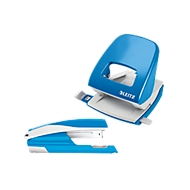 LEITZ® Bürolocher + Tischheftgerät SET, hellblau