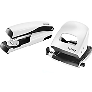 LEITZ® Bürolocher + Tischheftgerät Wow SET, perlweiß