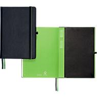 LEITZ® Carnet de notes 447100, A4, quadrillé, noir