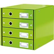 LEITZ® Click + Store, 4 Schubladen, flach, grün