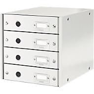 LEITZ® Click + Store, 4 Schubladen, flach, weiß