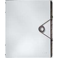LEITZ® Dokumentenmappe Solid, DIN A4, 3 Schutzkappen, 6 Fächer, PP,weiß