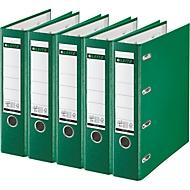 LEITZ® dubbele ordner plastic 1012, A4, 75 mm, PP, 5 stuks, groen