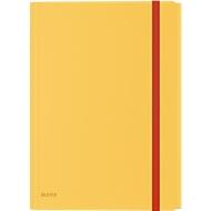 Leitz® Eckspannermappe Cosy, A4, bis 150 Blatt, 3 Klappen & Innentasche, Gummibandverschluss, Polypropylen, gelb
