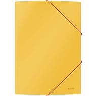 Leitz® Eckspannermappe Cosy, A4-Format, für bis zu 150 Blatt, 3 Klappen & Gummibandverschluss, Karton, gelb