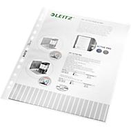 LEITZ insteekhoesje 4704, A4, bovenaan open, 100 stuks, generfd, transparant, 0,09 mm