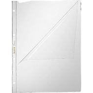 LEITZ insteekhoesje 4744, A4, bovenaan en links open, 10 stuks, glashelder, transparant