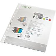 LEITZ insteekhoesje 4790, A4, bovenaan open, 100 stuks, generfd, transparant, 0,10 mm