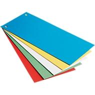 LEITZ® Intercalaires de couleurs en carton, 240 x 105 mm, assoritment de couleurs, 25 pièces