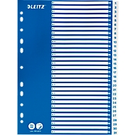LEITZ®  Intercalaires en PP, A4, avec page de garde bleue, , 1-31