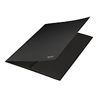 Leitz® Jurismappe Recycle, Format A4, für bis zu 250 Blatt, 3 Einschlagklappen, CO2-neutral, 100 % recycelbar, Blauer Engel, Recyclingkarton, schwarz