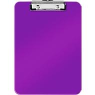 LEITZ® Klemmbrett WOW 3971, DIN A4, Polystyrol, mit Aufhängeöse, violett