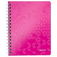 LEITZ notitieboekje WOW 4641, A5, geruit, roze