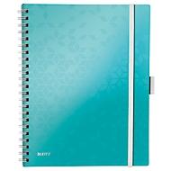 LEITZ notitieboekje WOW Be Mobile 4644, A4, gelinieerd, ijsblauw