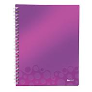LEITZ notitieboekje WOW Get Organised 4643, A4, geruit, paars