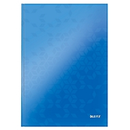 LEITZ Notizbuch WOW 4625, DIN A4, liniert, blau