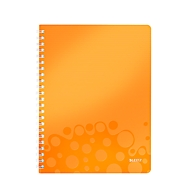 LEITZ Notizbuch WOW 4637, DIN A4, liniert, orange