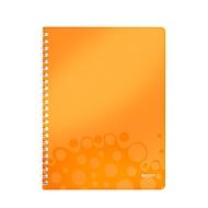 LEITZ Notizbuch WOW 4638, DIN A4, kariert, orange