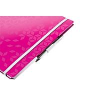 LEITZ Notizbuch WOW Be Mobile 4644, DIN A4, liniert, pink