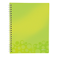 LEITZ Notizbuch WOW Get Organised 4643, DIN A4, kariert, grün