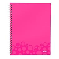 LEITZ Notizbuch WOW Get Organised 4643, DIN A4, kariert, pink