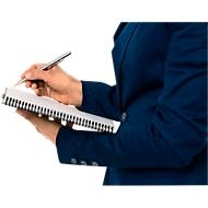 LEITZ® Office collegeblok 449800 A5, PP, geruit, geel