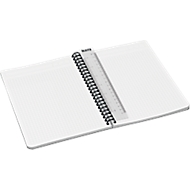 LEITZ® Office collegeblok 449800 A5, PP, geruit, grijs