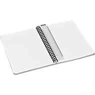 LEITZ® Office collegeblok 449800 A5, PP, geruit, rood